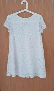 (2 for $15) BN White Crochet Maternity Dress