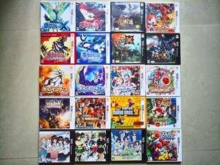 二手 3DS 日版 GAME pokemon x y sun moon 紅寶石 藍寶石 寵物小精靈 精靈寶可夢 mhx mhxx monster hunter xx 太鼓之達人 戰國無雙 海賊王 閃亂神樂 怪物彈珠 全明星大亂鬥 黑子的籃球