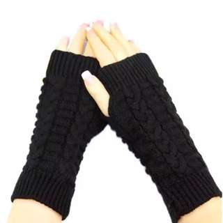 Fashion Winter Knitted Mittens Womens Warm Winter Cashmere Twisted Fingerless Gloves