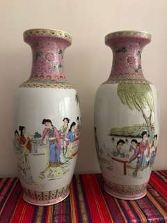 A pair of beauty vases H-61cm