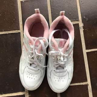 White Pink Sneakers