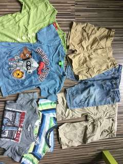 5+2pcs 3yo boy quality clothes bundle