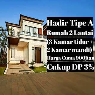 Rumah 2 Lantai, Cukup DP 3%