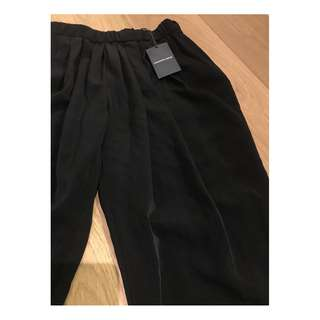 BNWT Country Road Black Drape Pleat Pants Size 8 RRP $129