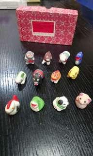十二生肖 wuxi clay figurines (只剩郵寄,包郵) 有一兩隻小甩油