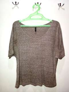Brown Batwing Top