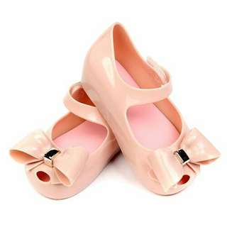 Big Ribbon Jelly Shoes