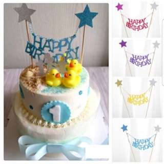 (3 for $9)Happy Birthday Cake Topper series 2