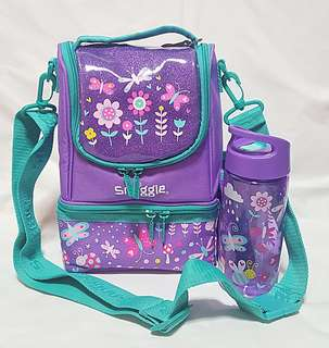 Smiggle lunchbox with water bottle set