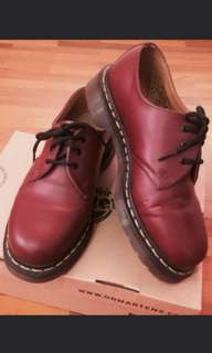 Dr Martens Cherry Red Shoes