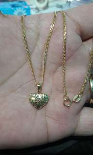 18k saudi gold necklace 18 inches 2g