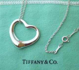 [專櫃真品]Tiffany&co 心形項鍊Open heart M號 、近全新
