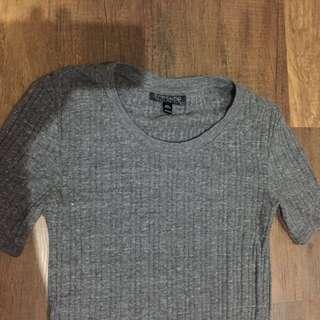 Topshop basic grey top