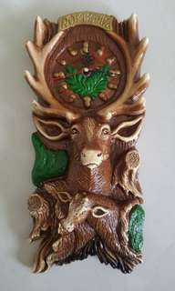 Handcrafted Exotic Deer Wall Clock from Romania
