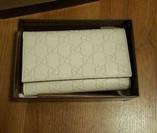 Gucci pearl white wallet