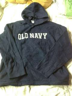 OLD NAVY NAVY BLUE HOODIE FOR MEN (L)