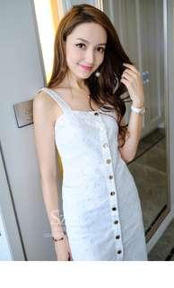 White denim dress
