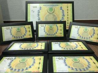 Malaysia RM600 + RM60 Uncut + RM60 Banknotes
