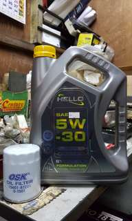 Engine Oil,Oil Filter sekali Labour OFFER for all car(SEMI SYNTHETIC)8k