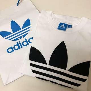 🚚 Adidas Original 基本款三葉草Logo T-shirt/S號
