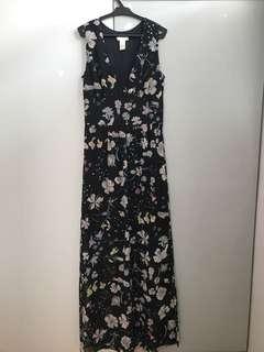 H&M Black Printed Maxi Dress