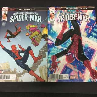 Peter Parker: The Spectacular Spiderman 301 & 302 Marvel Comics Book Stan Lee Movie Avengers