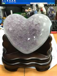 Amethyst Crystal Love Heart 梦幻薰衣草紫爱心