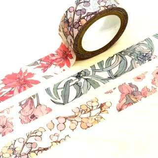 慕夏紙膠帶 慕夏寶石系列花樣款紙膠帶