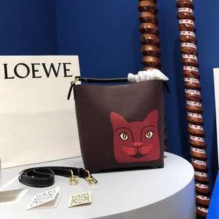 Loewe T Bucket Cat Small Bag