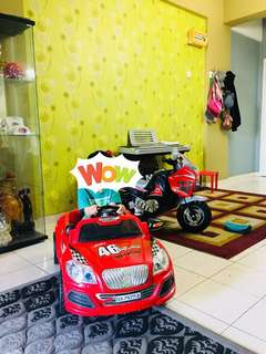 Car on ride kid - sila baca description utk condition item