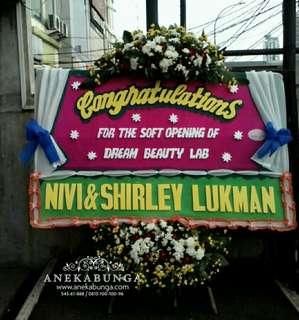 Bunga kangan papan ucapan selamat sukses - congratulation - grand opening - pembukaan toko - kado - gift - board