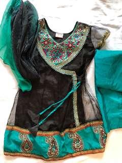 Girls indian style dress set