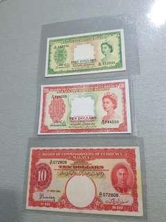 MALAYA$5 & $1O 3pcs