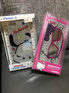 Apple iPhone 5/5S 蘋果原裝Sanrio hello kitty pc 狗 正版正貨機穀