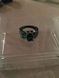 Costume Jewelry Emerald Ring