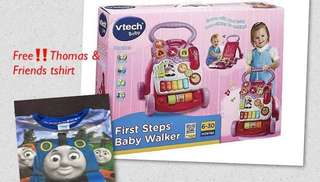 Vtech first step walker with gift (Thomas & friends tshirt)