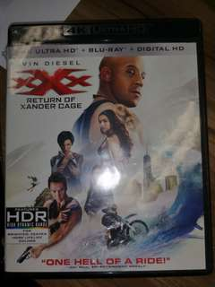 XXX Return Of Xander Cage 4K Ultra HD + Blu Ray + Digital HD