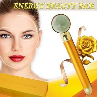 Jade Beauty Bar 24k Round Golden Pulse Facial Massager