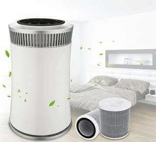 Intelligent controlled portable HEPA Air Purifier (White)
