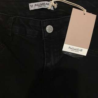 NEW PULL & BEAR Long Black Jeans