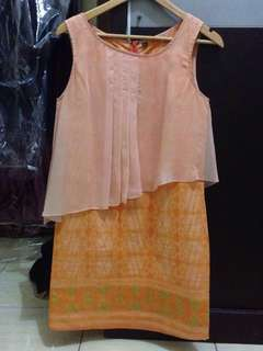 Batik Short Dress by Lenny Agustine