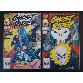 Ghost Rider #5-#6 (1990 2nd Series) Complete Set of 2, Punisher vs. Ghost Rider! No holds barred ICONIC!