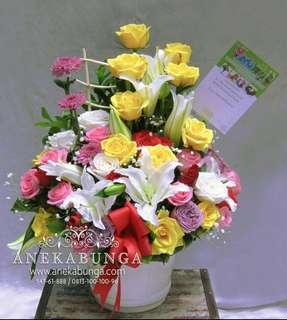 Bunga rangkaian pembukaan toko - grand opening - congratulation - anniversary - jakarta barat - kado - gift