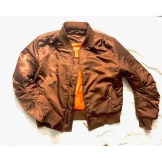 ASOS Satin Brown Bomber Jacket