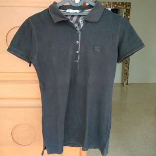Black polo T-shirt top by burberry