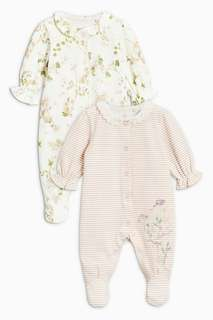 NEXT Baby Floral Sleepsuits