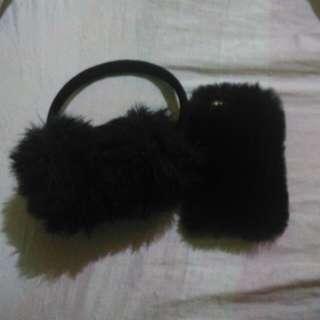 iphone 5s case /earmuffs bundle
