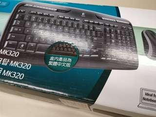 Logitech Wireless Desktop MK320 羅技 滑鼠鍵盤組