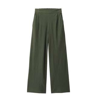 🚚 Gu 綠色寬褲
