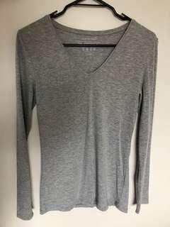 Grey long sleeve top